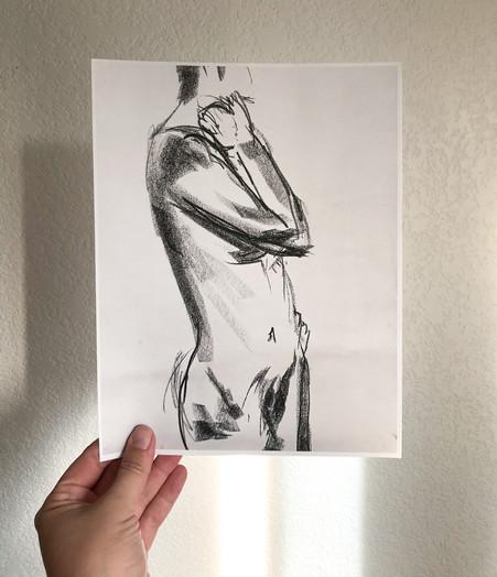 """Figure Study 1"" art print"