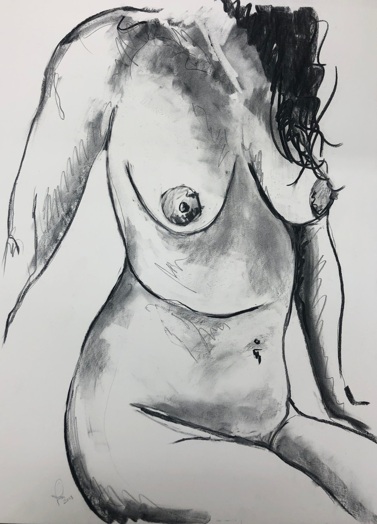Nude figure- commissioned