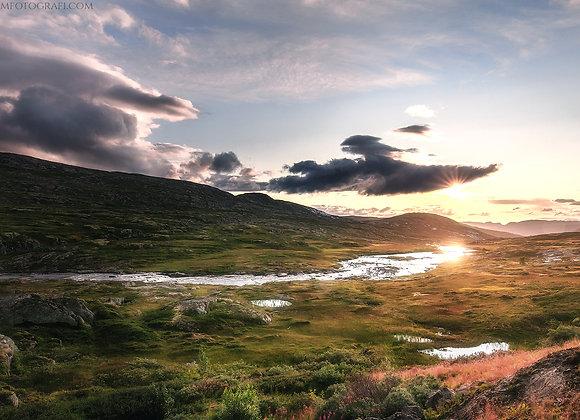 Solnedgang over Vidda