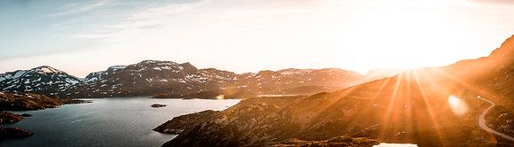 Solnedgang over Haukeli