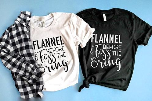 Flannel & Fizz before the Ring Bachelorette Shirt. Winter Flannel Bachelorette.