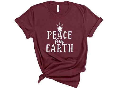 Peace on Earth Shirt. Christmas Carol Shirt.