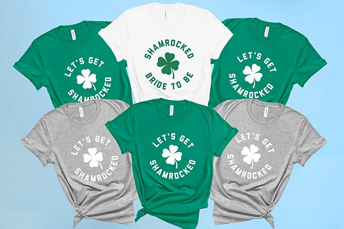 Lets Get Shamrocked Bachelorette Party Shirts | Irish | St Patty's Day