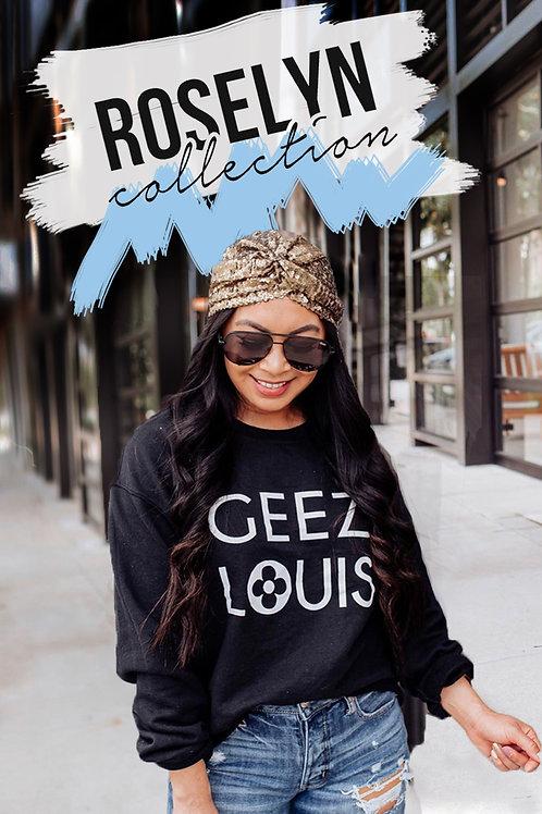 Designer Inspired Sweatshirt | Geez Louise | Blogger Roselyn Wea