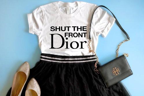 Designer Inspired Tshirt   Shut the front Door   Blogger Roselyn Weaver