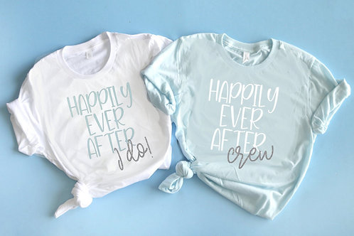 Happily Ever After Bachelorette Shirts | I Do Crew Shirts