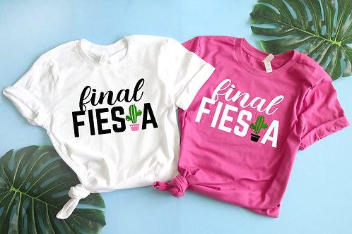 Final Fiesta Bachelorette Party Shirts | Cactus Theme