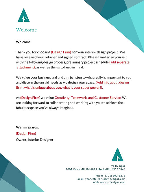 WELCOME PACKET CANVA TEMPLATE (COMMERCIAL & RESIDENTIAL)