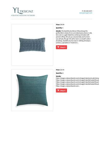 YL Designz interior design shopping list
