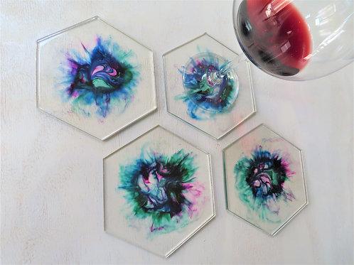 Diva Flow Modern Art Coaster Set
