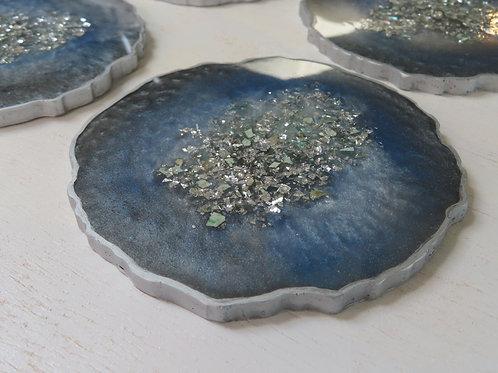 "Custom ""Geode"" Designer Coasters"