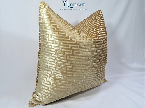 Champagne Royal Throw Pillow Cover