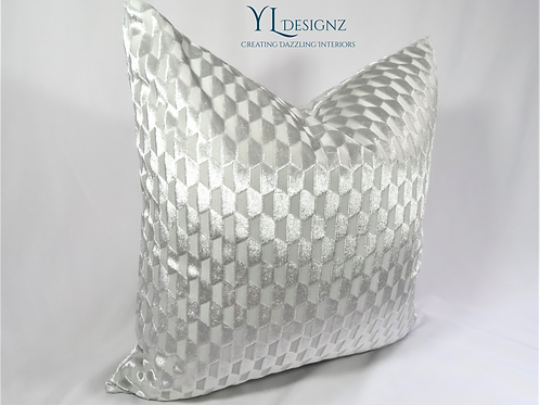 Diamond Ice Throw Pillow Cover