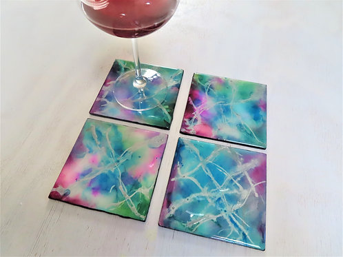 Lux Splash Pink (Special Edition Wood Coasters)