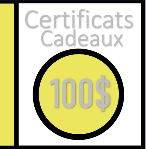 $100 CARTE DE CADEAUX