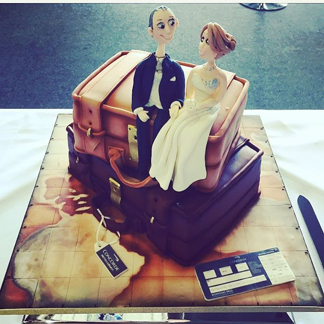 Congratulations to Steve and Michelle who got married on CONCORDE!!! Amazing. LOVED making this cake