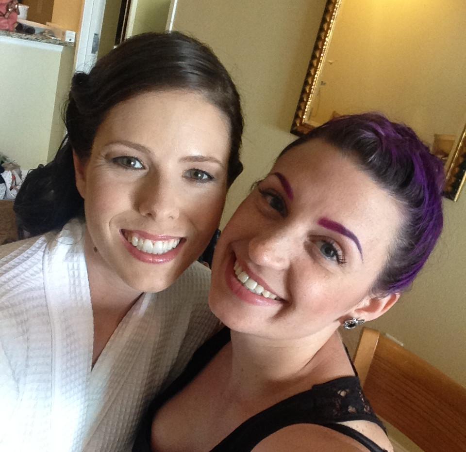 Selfie with a bride.JPG
