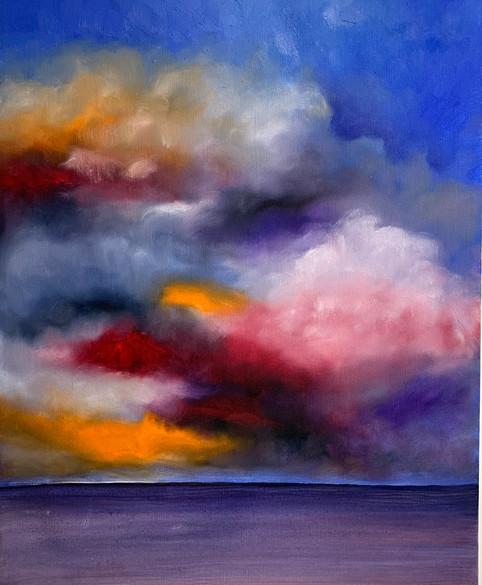 Heaven, Oil on Canvas, 16x20 $800