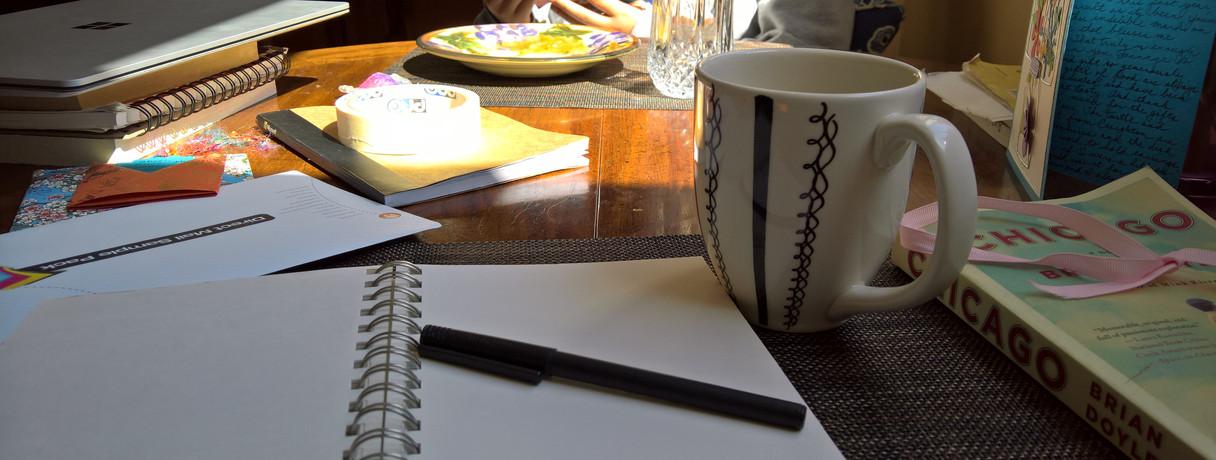 Saturday morning blank page