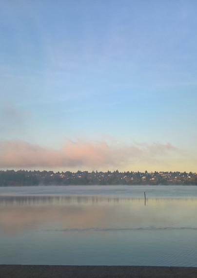 Greenlake morning color in the sky