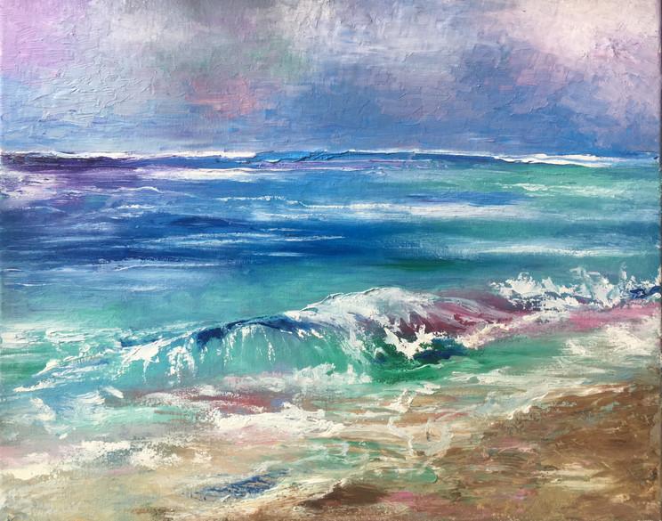 A Sudden Crash, 16x24, Oils on Canvas, $600