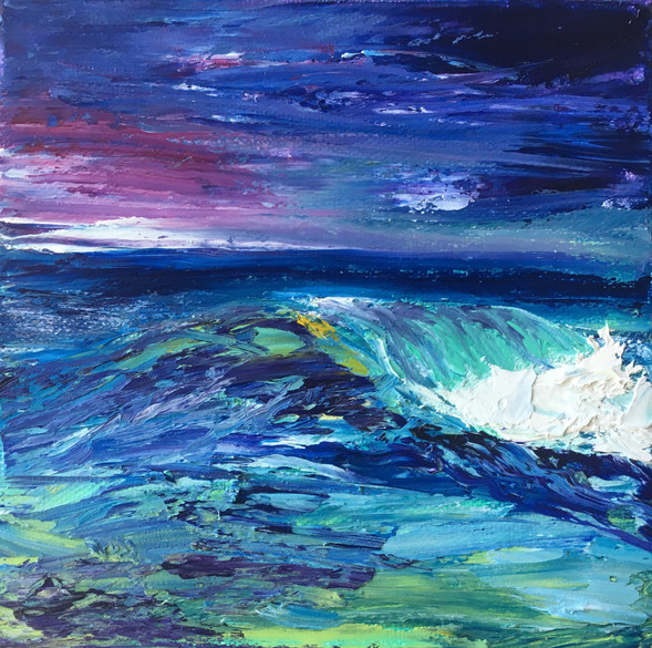 Collision, 5x5, Oils on Canvas, $150