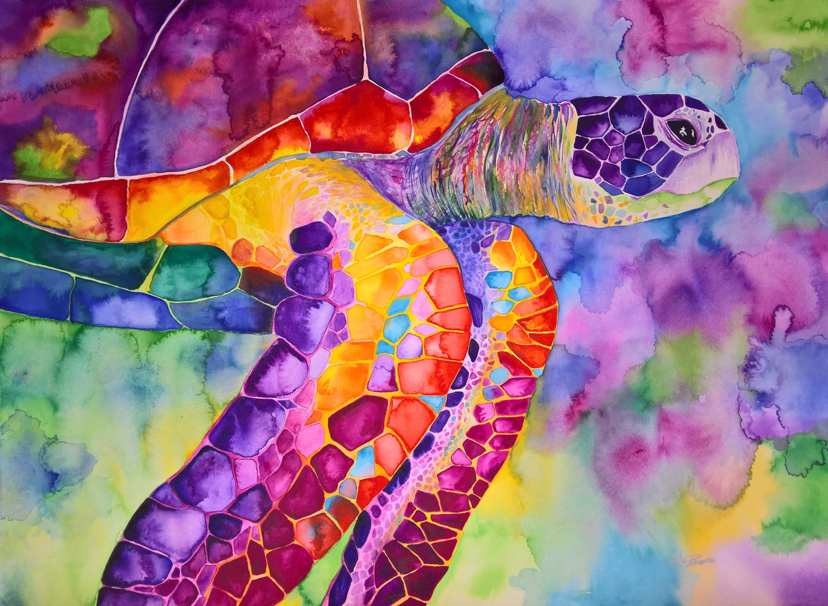 Turtle #6 Watercolor 22x30  $500.00