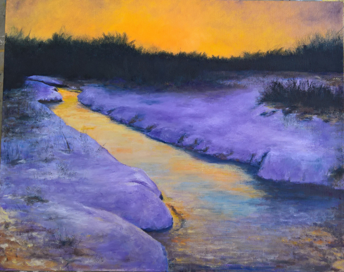 Winter Stream  16 x 20  $300