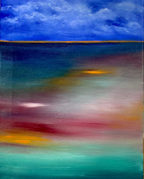 Unconcious, Oils on canvas, 16x20 $400