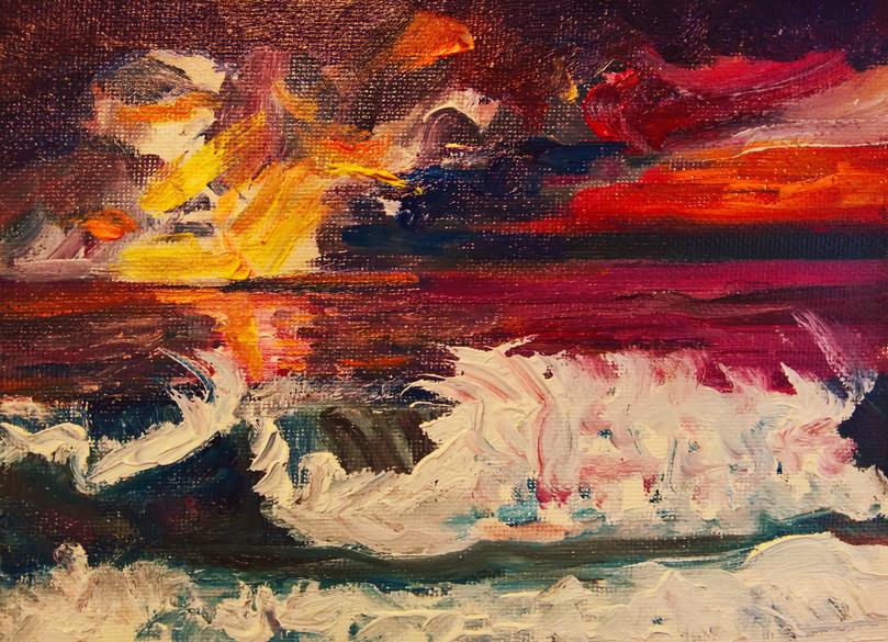 Raging Ocean Sunset -   NFS
