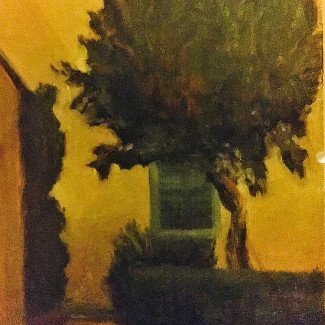 The Artists Villa, Oils, 11x12 on Birch