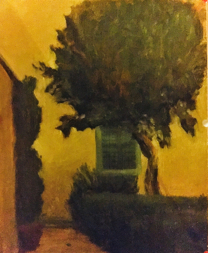 The Artists Villa, Oils on Birch, 11x12 NFS