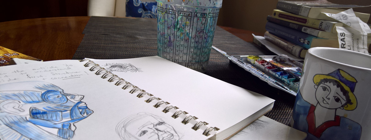 Saturday Morning Sketch and Watercolor
