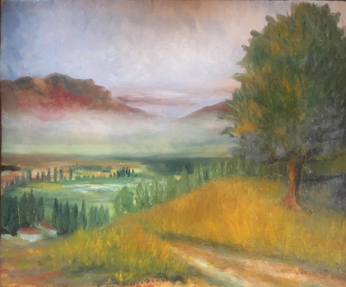 Tuscany memories, Oils on canvas 2019 11x16 $400.00 Sold