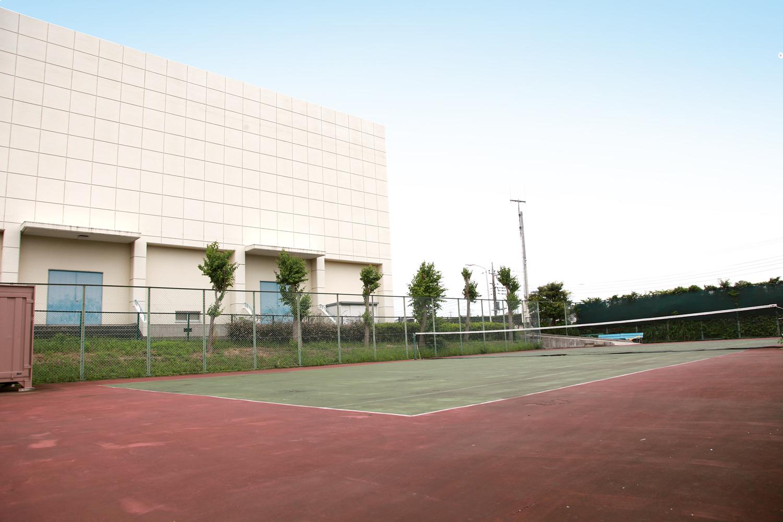 体育館外側
