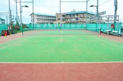 テニスコート緑×赤①