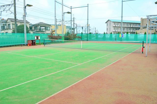 テニスコート緑×赤②