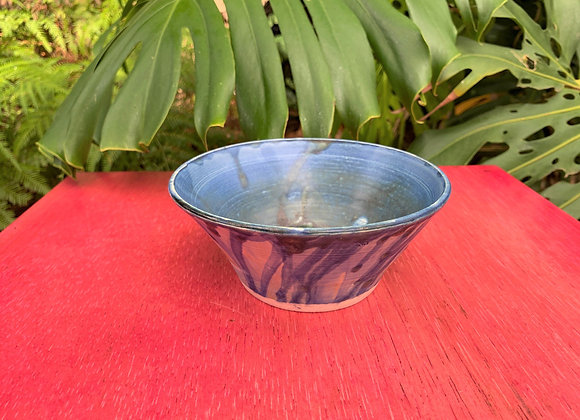 bowl - blue drip