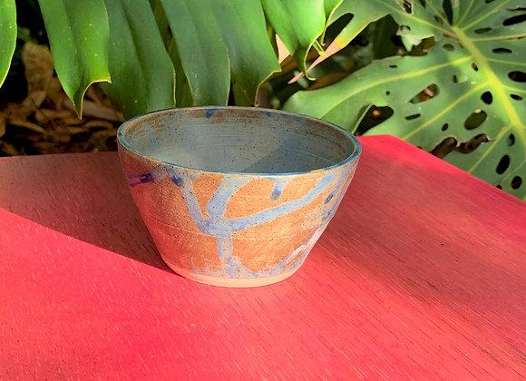 bowl - blue brown glaze