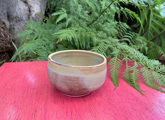 bowl - brown/blue matte glaze