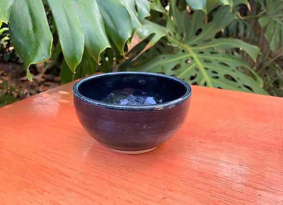 bowl - dark blue/ aqua gloss