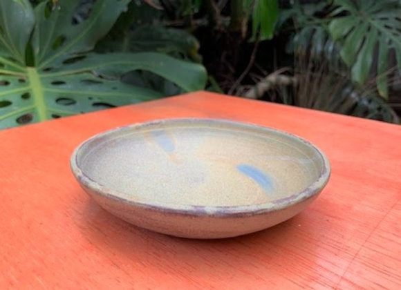 plate/ dish - brown/blue