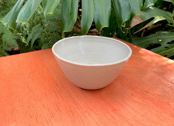 bowl - white mottled