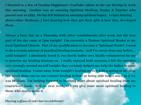 Day 5 - Developing Spiritual Medium.....5.3.20