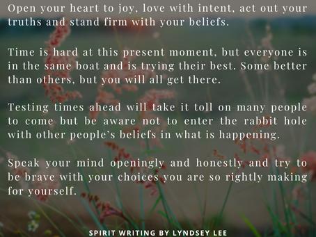 Spirit Writing....24th January 2021