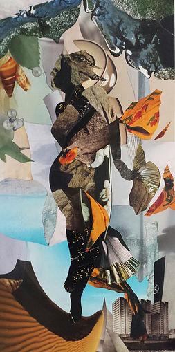 Dittico, collage puro, cm. 50x100, 2014