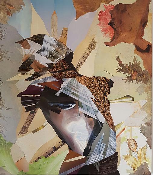 Collage puro, cm 50x90,  2008