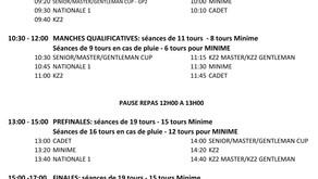 Trophée de la Ligue 2021 #2 Mulhouse - Horaires du Dimanche et Groupes Chronos