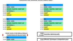 Trophée de la Ligue 2021 #2 - Horaires du Samedi