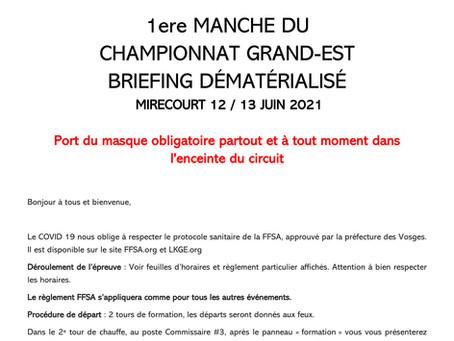 LKGE 2021 # Mirecourt - Rappel du Règlement et du Briefing
